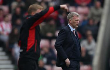 Bournemouth manager Eddie Howe and Sunderland manager David Moyes