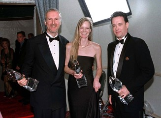 DIRECTOR OF TITANIC WITH PEOPLES CHOICE AWARD.