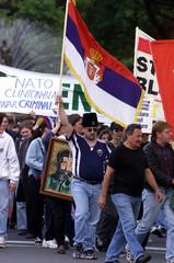 PROTESTERS AGAINST ANTI-NATO BOMBING IN YUGOSLAVIA MARCH IN SYDNEY.