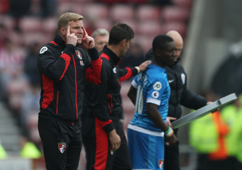 Bournemouth manager Eddie Howe gestures as Bournemouth's Max Gradel prepares to come on as a substitute