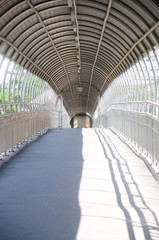 Walk way tunnel on the bridge