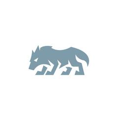 Wolf icon design