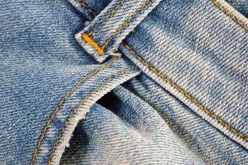 Old blue denim jeans