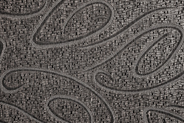 Old ornamental textured dark grey embroideryered cloth texture