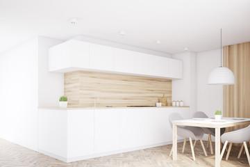 Light kitchen counter, table, corner