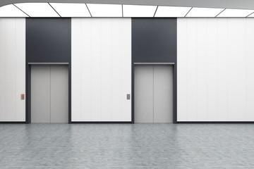 White elevator hall