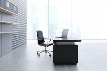 Panoramic office interior