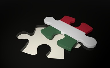 Hungarian Flag Puzzle Piece - Flag of Hungary.