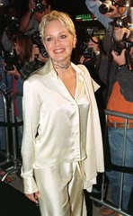 "Actress Sharon Stone who provides the voice for Princess Bala in the new computer animated film ""Ant.."