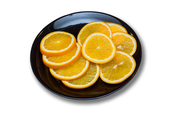 Orange on the plate