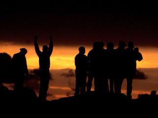 THE SOLAR ECLIPSE DECENDS ON PENZANCE.