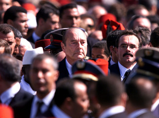 JACQUES CHIRAC ATTENDS KING HASSAN II BURIAL IN RABAT.