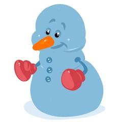 Snowman cartoon illustration isolated image character