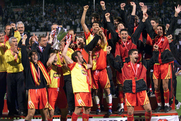 GALATASARAY PLAYERS CELEBRATE THEIR WIN IN TURKISH CUP FINAL.