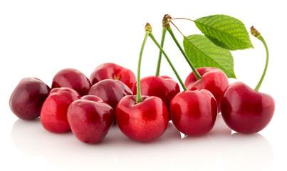 Fresh cherry isolated.
