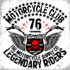 Motorcycle T shirt Graphic Design