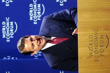 AL GORE DELIVERS HIS SPEECH AT WORLD ECONOMIC FORUM IN DAVOS.