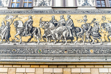 Famous landmark of the Dresden and all Germany - Procession of Princes