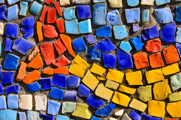Mosaic background. Colorful ceramic tile pattern Wall mural