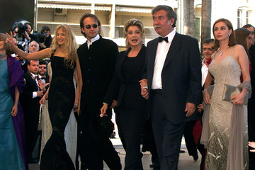CHILEAN DIRECTOR RAOUL RUIZ AND CAST AT CANNES.