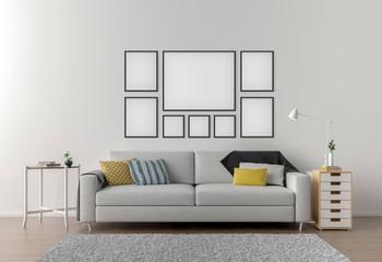 Picture frame interior set mockup