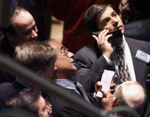 Traders at work on the floor of the New York Stock Exchange shortly after the opening bell on, Augus..
