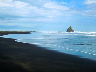 Idyllic Karekare Beach, New Zealand - Stock Image
