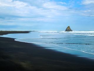 Idyllic Karekare Beach, New Zealand - Stock Image