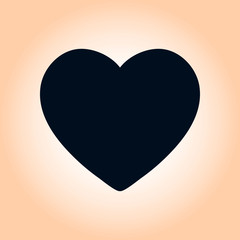 Valentine heart symbol. Sign of love. Enhance content rating.