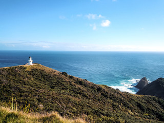 Cape Reinga, Lighthouse, New Zealand - Stock Image