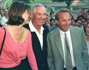 ACTOR KEVIN COSTNER AND AUGIE GARRIDO AT PREMIERE.