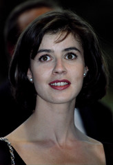 """French actress Irne Jacob arrives for the screening of """"les trois couleurs rouge """" May 16.."""