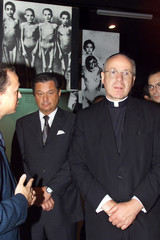 CARDINAL CHRISTOPHER SCHOENBORN OF AUSTRIA IN YAD VASHEM HOLOCAUST MUSEUM IN JERUSALEM.