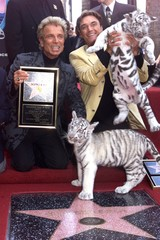 SIEGFRIED AND ROY RECEIVE STAR ON HOLLYWOOD WALK OF FAME.