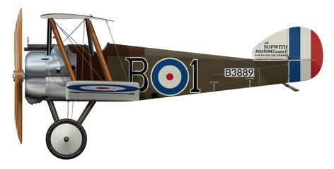 Sopwith Camel B3889 - Side-Profile-View