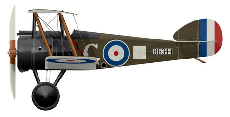 Sopwith Camel B6344 - Side Profile View