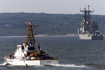 SHIPS HEAD TO BRISCOE FOR KENNEDY BURIAL CEREMONIES.