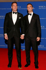 Roberts and Abner arrive on the red carpet at the White House Correspondents' Association dinner in Washington