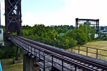 Old Abandoned Vintage Railroad Bridge in Cleveland Ohio