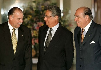 MERCOSUR TRADE BLOC LEADERS PRESIDENTS POSE IN RIO.