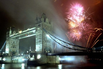 Fireworks explode over Tower Bridge in central London November 4. Safety campaigners this year are a..
