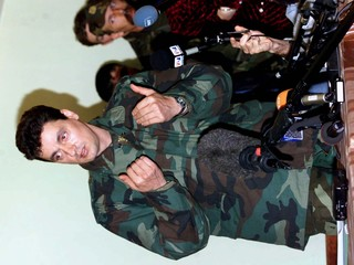 KLA MILITARY SPOKESMAN DURING PRESS CONFERENCE IN KUKES.