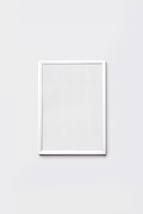 A aluminum photo(picture) frame) isolated white.