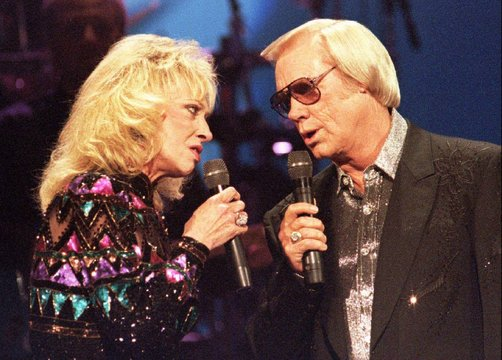 - FILE PHOTO 4OCT95 - Legendary singer George Jones (R), the country-music icon who has sold more th..