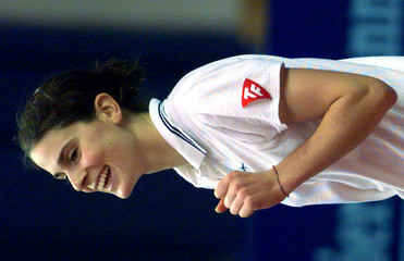 FRENCH TENNIS PLAYER NATHALIE DECHY REACTS.