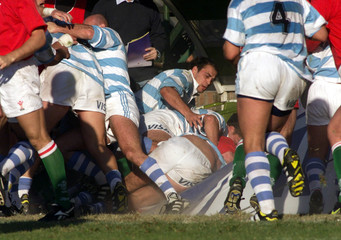 WALES VERSUS ARGENTINE LOS PUMAS RUGBY TEST MATCH IN BUENOS AIRES.