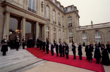 The world leaders and dignitaries who attended former French President Francois Mitterrand's requiem..