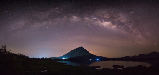 Hello Milky Way, Lam Isu, Kanchanaburi, Thailand Fotobehang