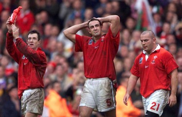 WALES RUGBY PLAYERS REACT AFTER LOSS.