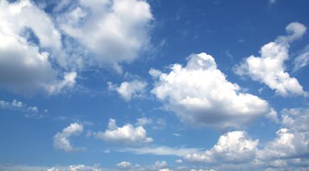 Blue sky white clouds fresh air nature